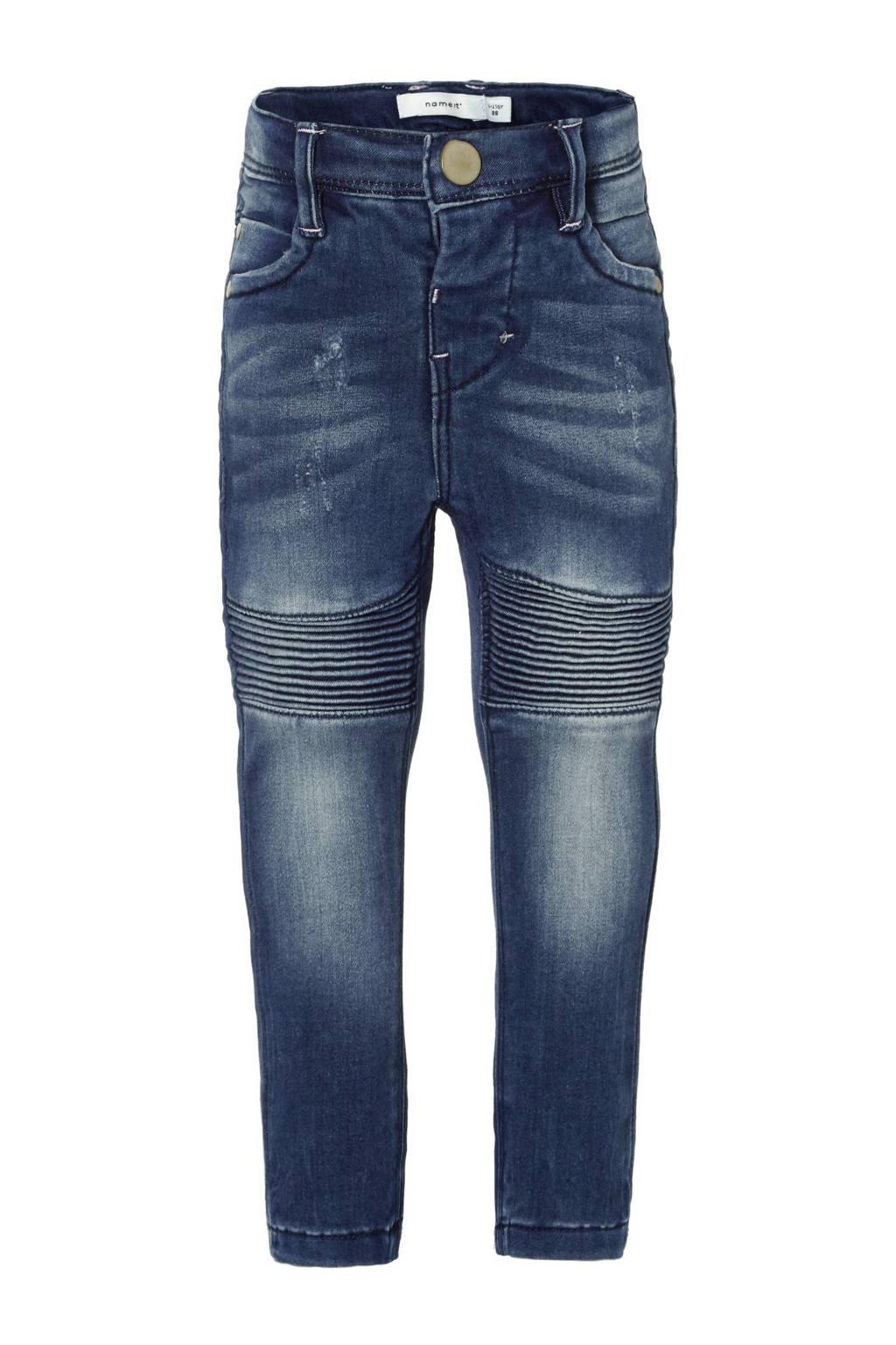 name it MINI Polly skinny fit jeans, Medium blue denim