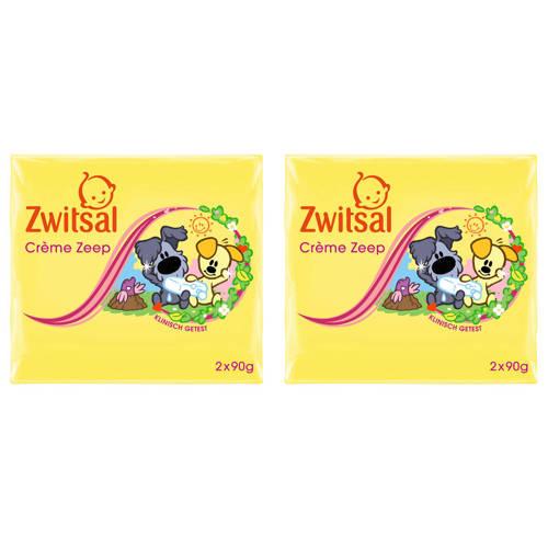 Zwitsal Woezel & Pip crème zeep tablet - 4x90 g - baby