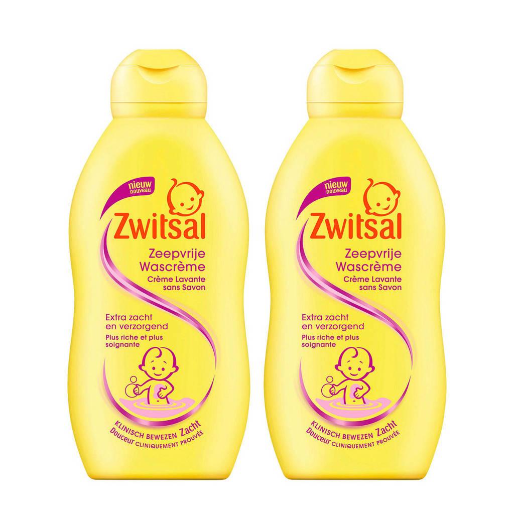 Zwitsal zeepvrije wascrème - 2x200 ml - baby, 2 x 200 ml