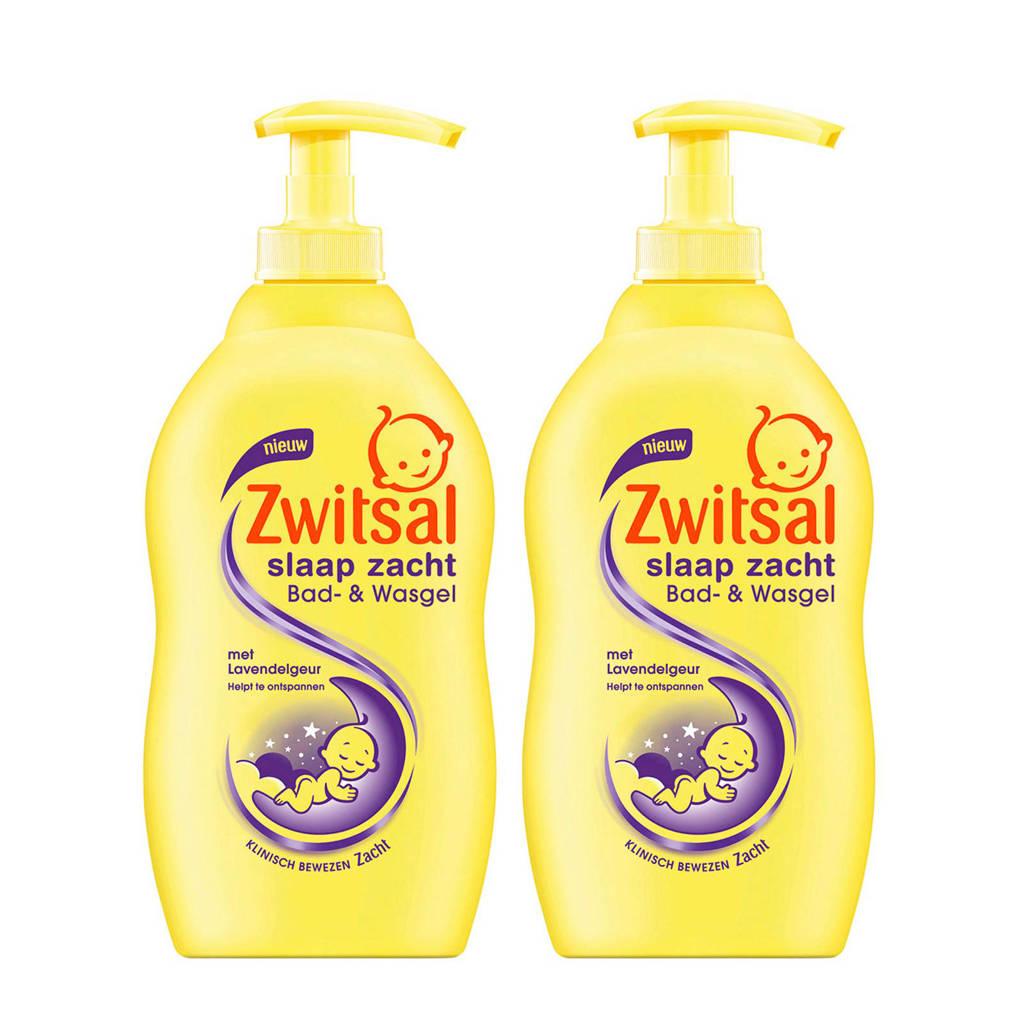 Zwitsal slaap zacht bad- & wasgel lavendel - 2x400 ml - baby, 2 x 400 ml