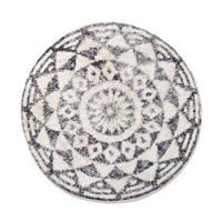 HKliving badmat (80x80 cm), Zwart/wit