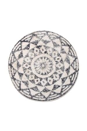 badmat (Ø80 cm) Zwart/wit