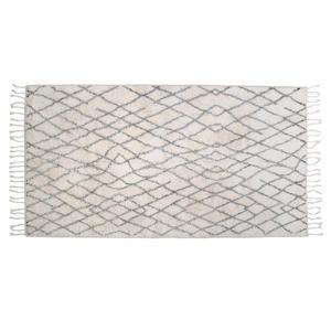 badmat (90x175 cm) Wit/zwart