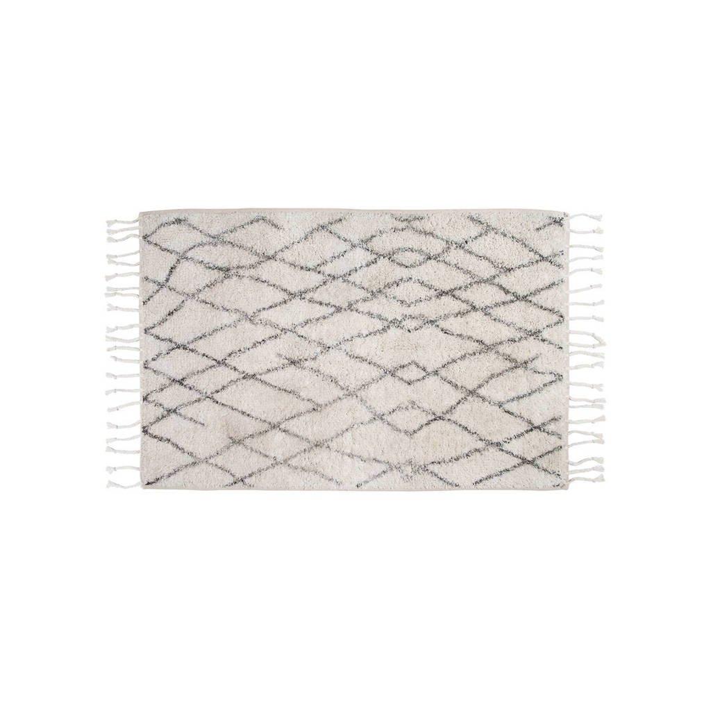 HKliving badmat (60x90 cm), Wit/zwart