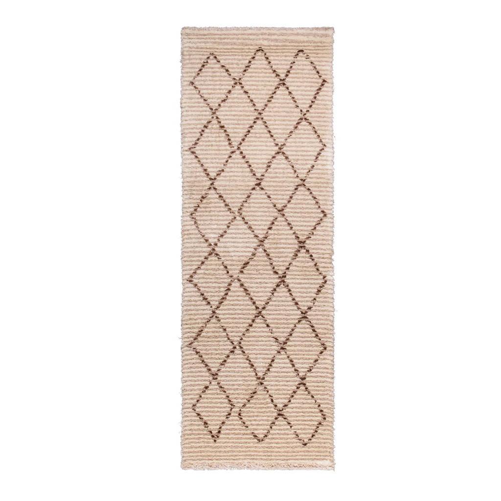 Dutchbone vloerkleed Jafar  (230x80 cm), Beige/bruin