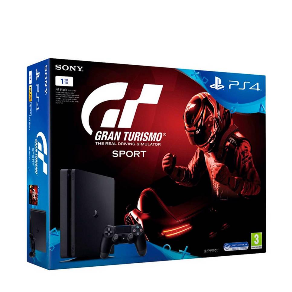 Sony PlayStation 4 Slim 1TB + Gran Turismo Sport, Zwart