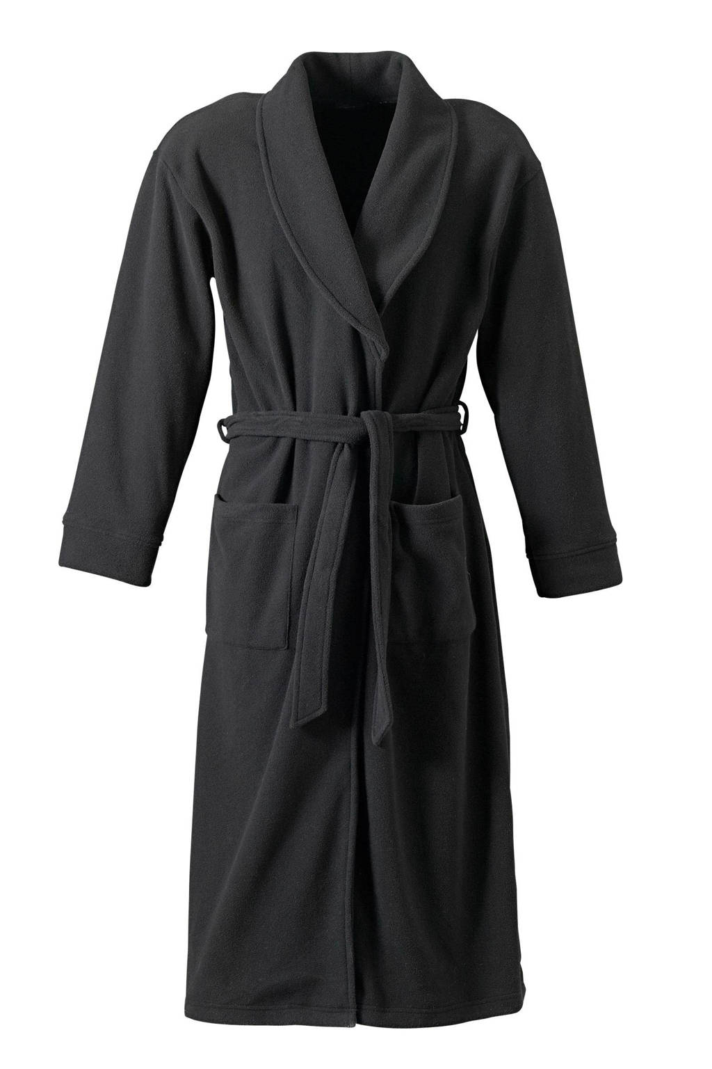 Union River fleece badjas zwart, Zwart