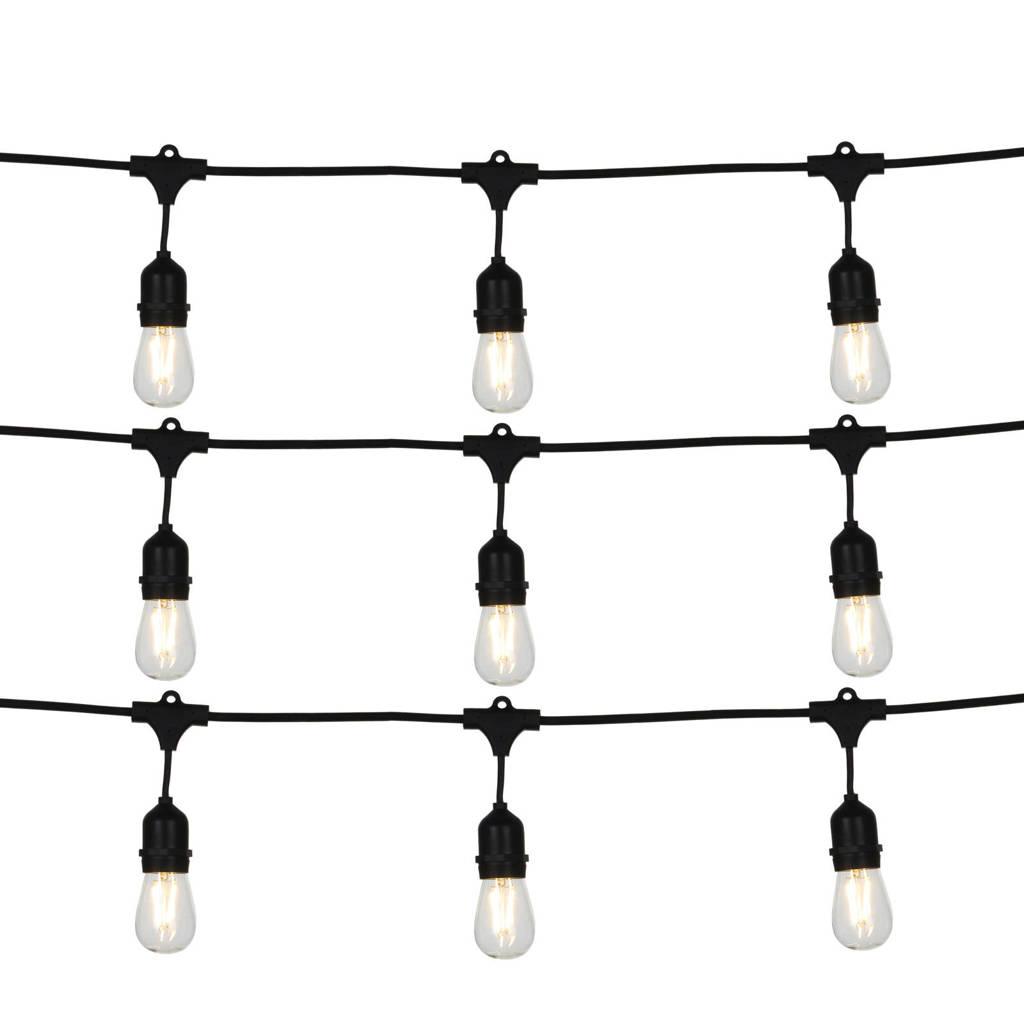 Luca Lighting lichtsnoer (10 lampen), Zwart/Warm wit