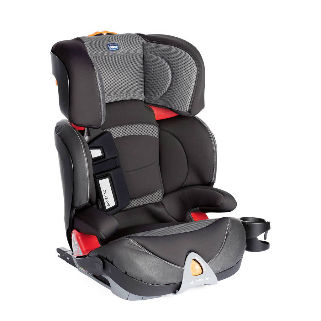 Chicco autostoel Oasys 2-3 FixPlus Evo stone, Grijs/zwart