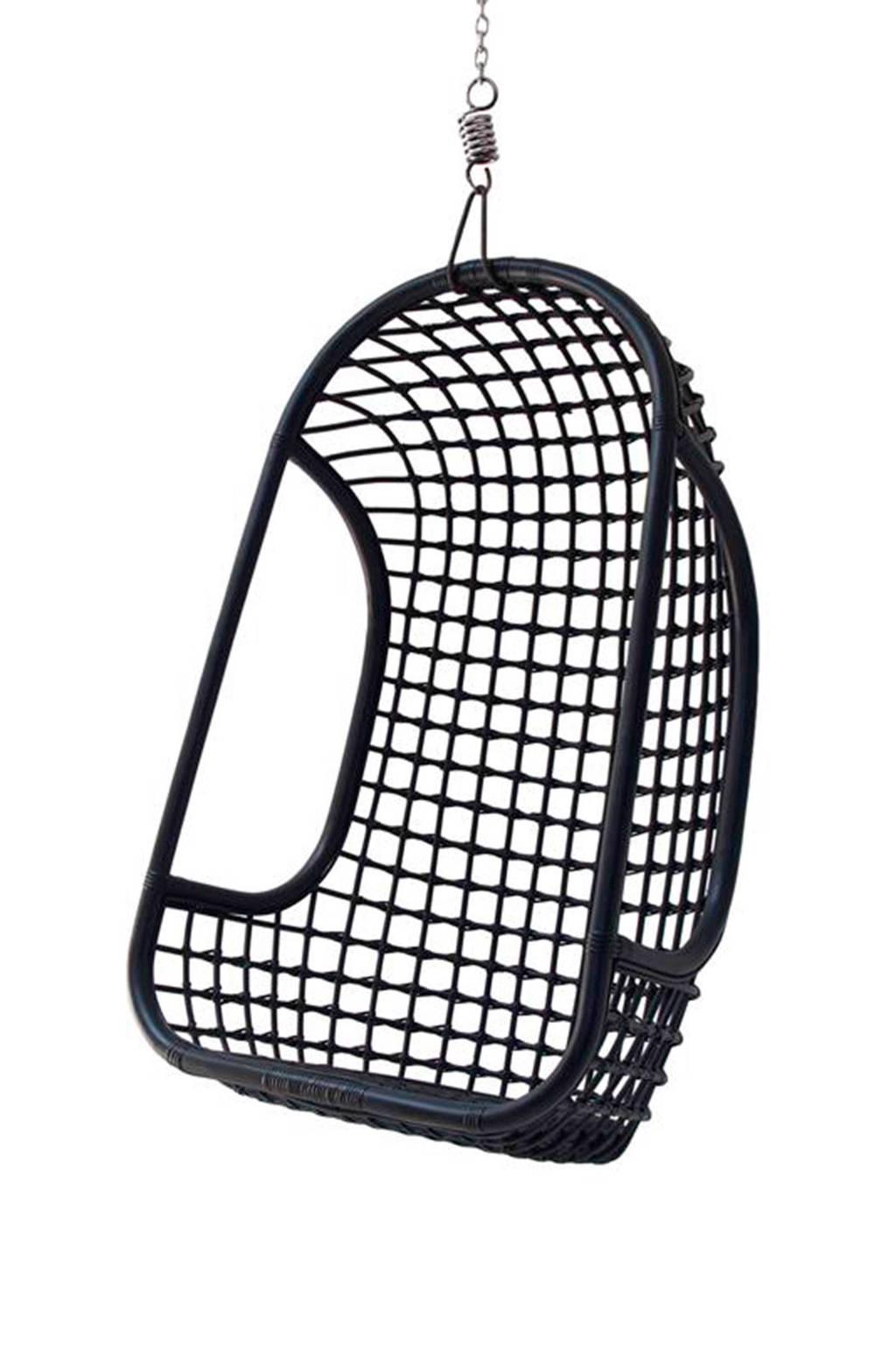 HKliving Rotan hangstoel, Zwart