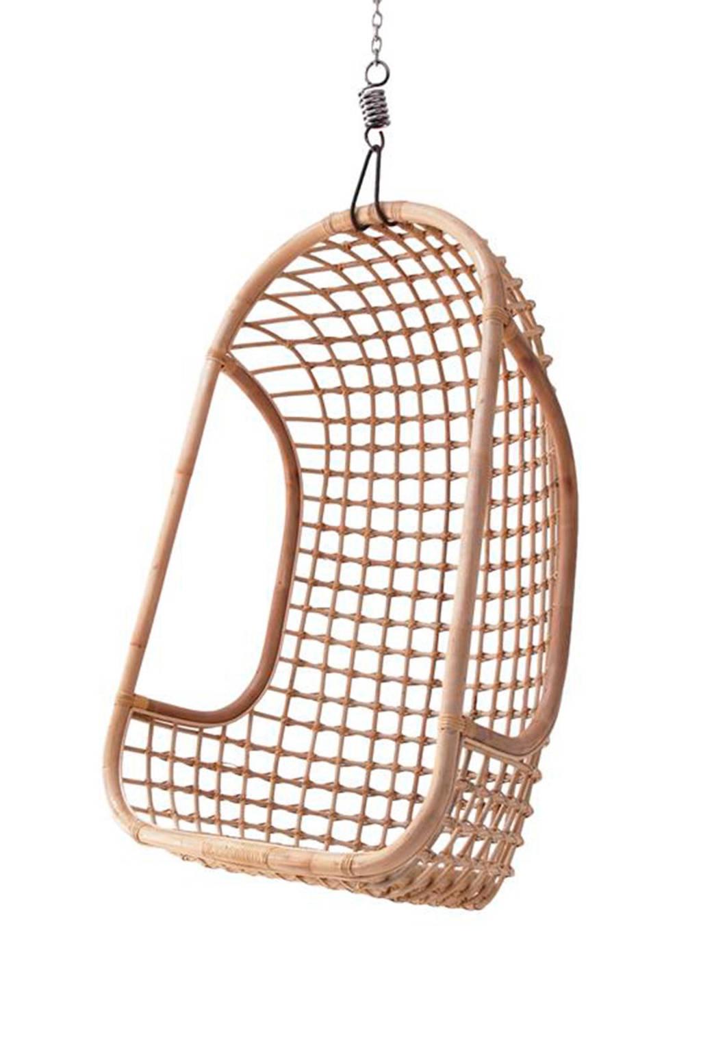 HKliving Rotan hangstoel, Bruin
