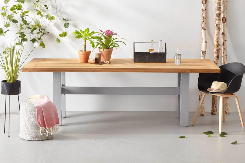 Hartman tuintafel Yasmani (240x100 cm), Misty grey met hout