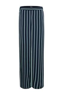 WE Fashion gestreepte palazzo broek donkerblauw (dames)