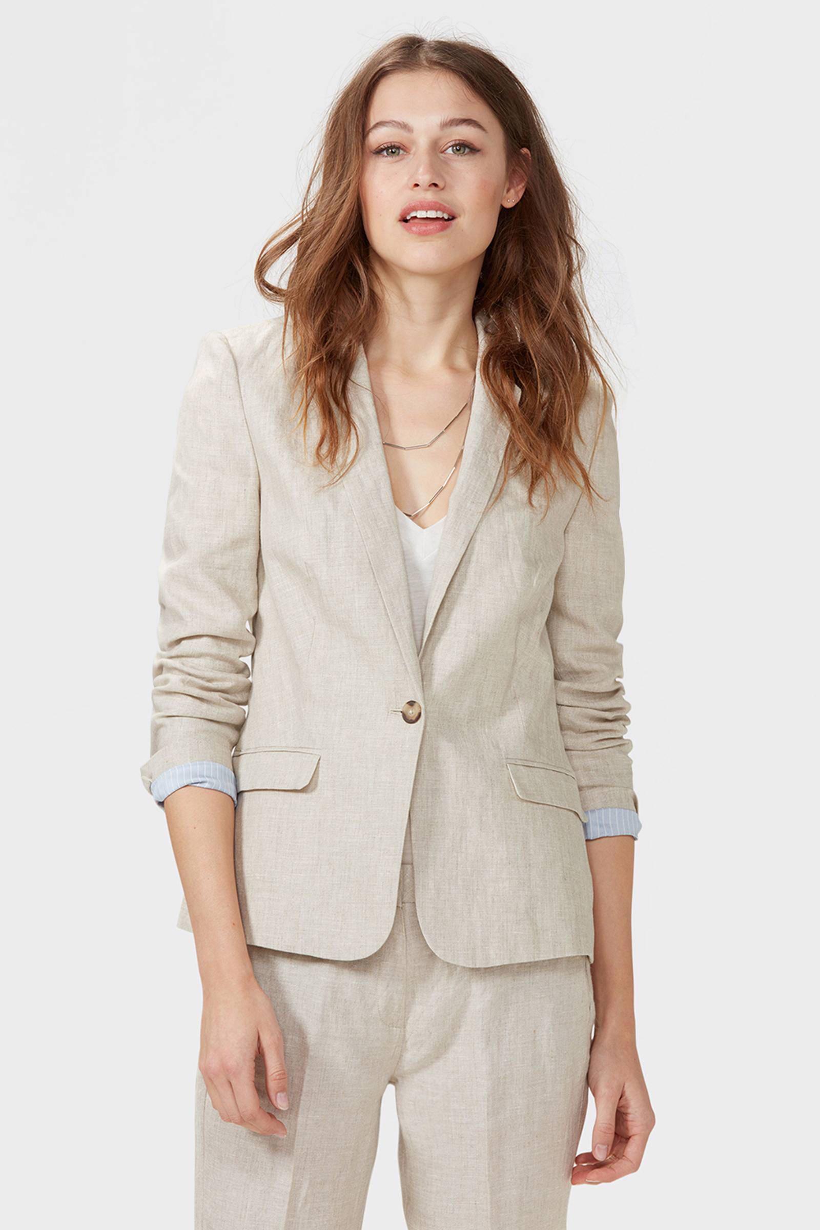 WE Fashion linnen blazer | wehkamp