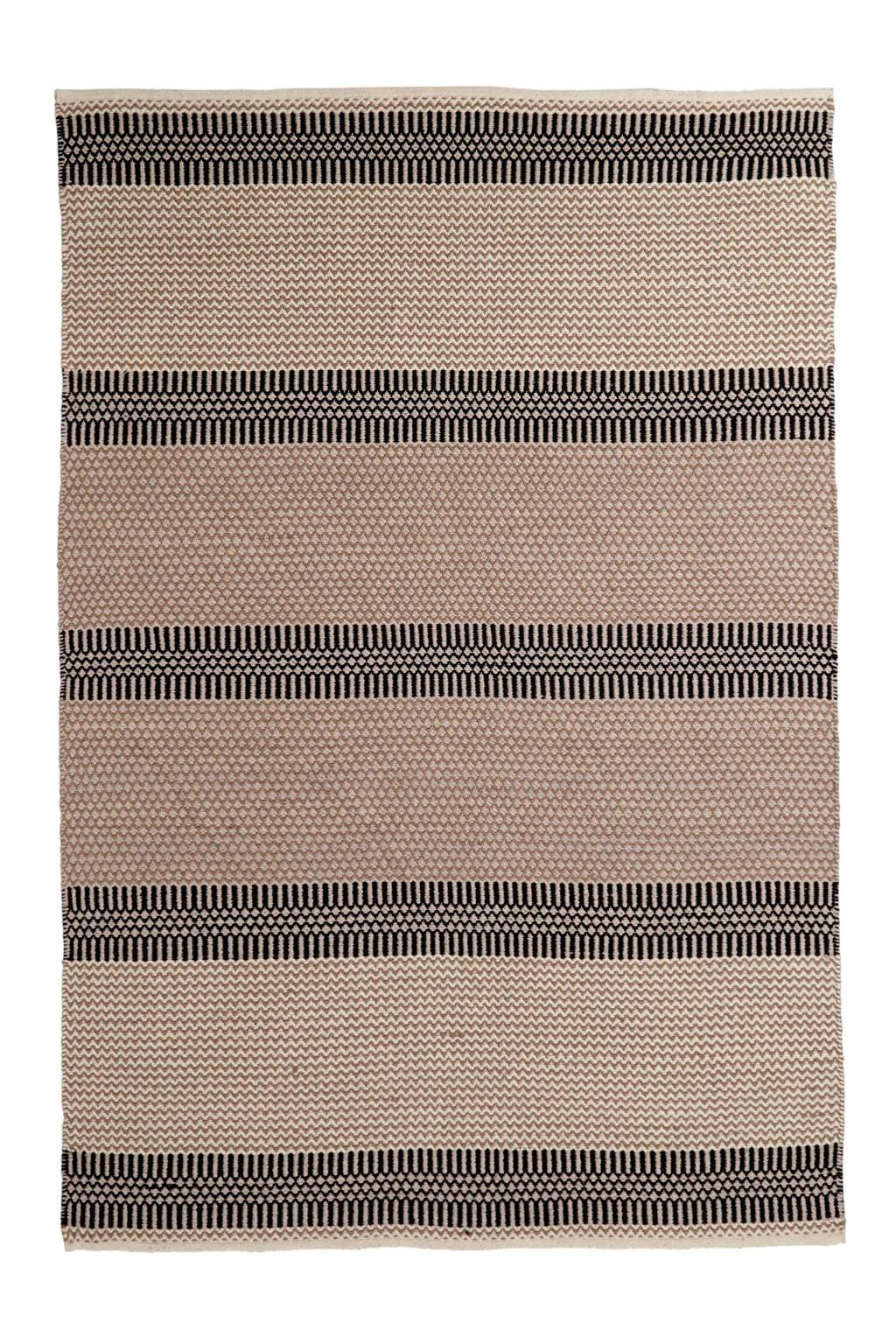 whkmp's own vloerkleed  (230x160 cm), Zwart/bruin