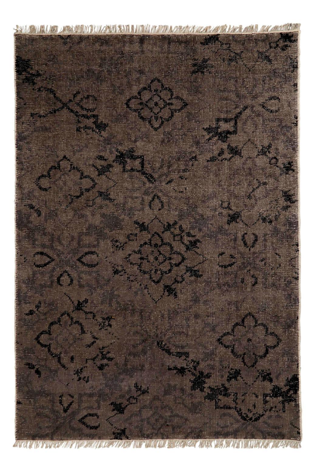 whkmp's own vloerkleed (wol)  (230x160 cm), Zwart