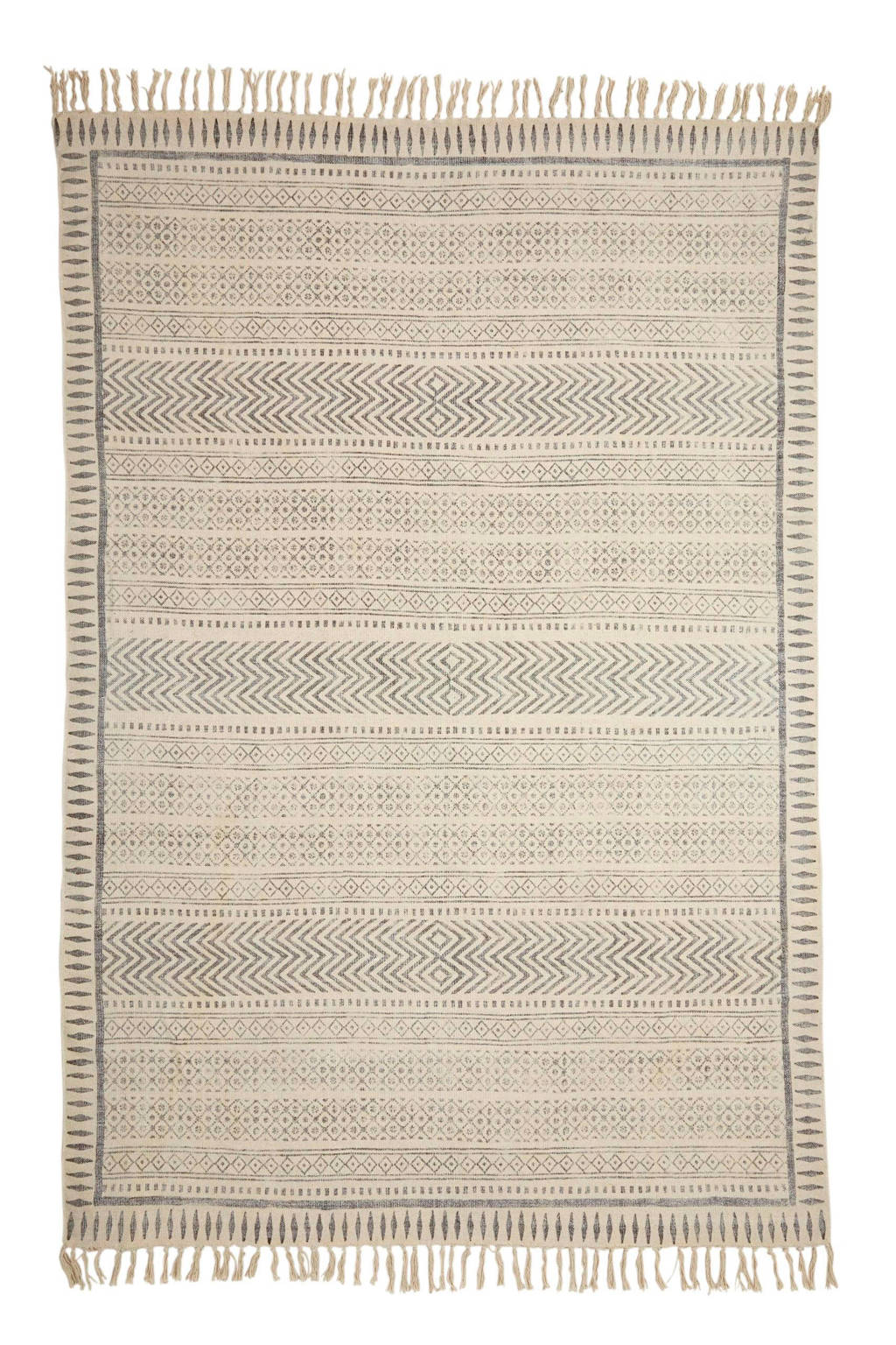 whkmp's own vloerkleed  (230x160 cm), Ecru/grijs