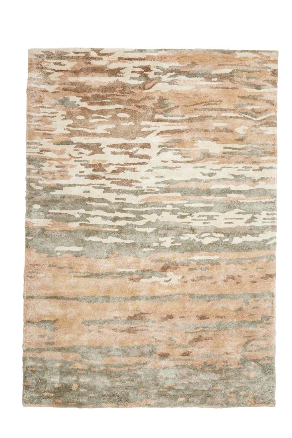 whkmp's own vloerkleed (viscose)  (230x160 cm), Grijs/bruin/wit