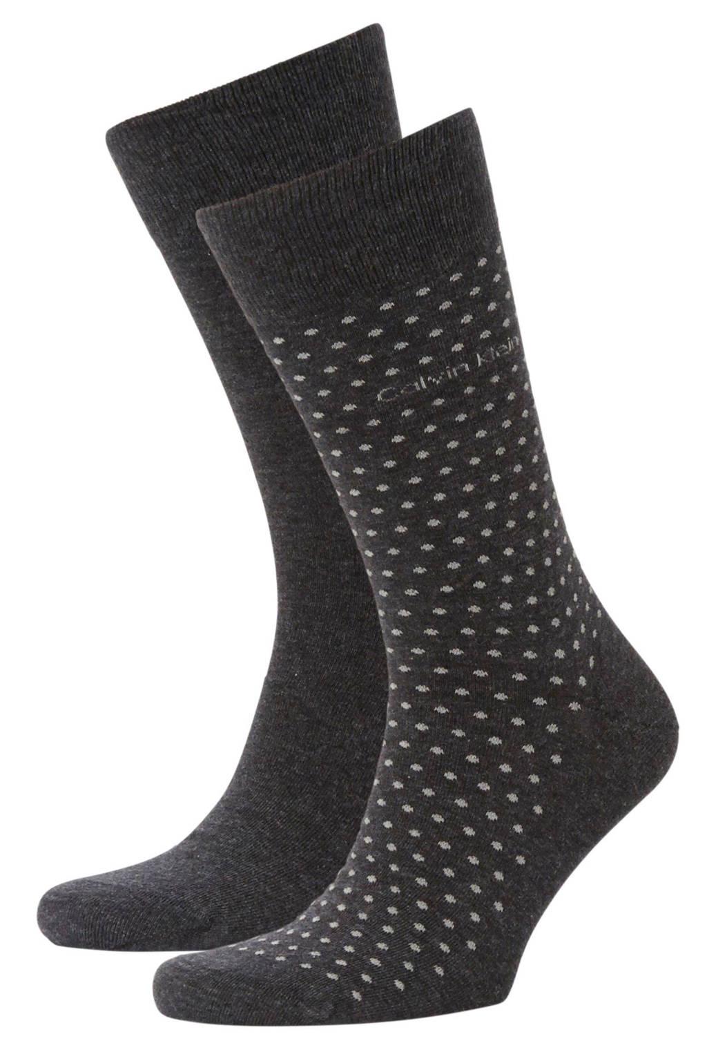 CALVIN KLEIN sokken - set van 2 multi, grijs  melange