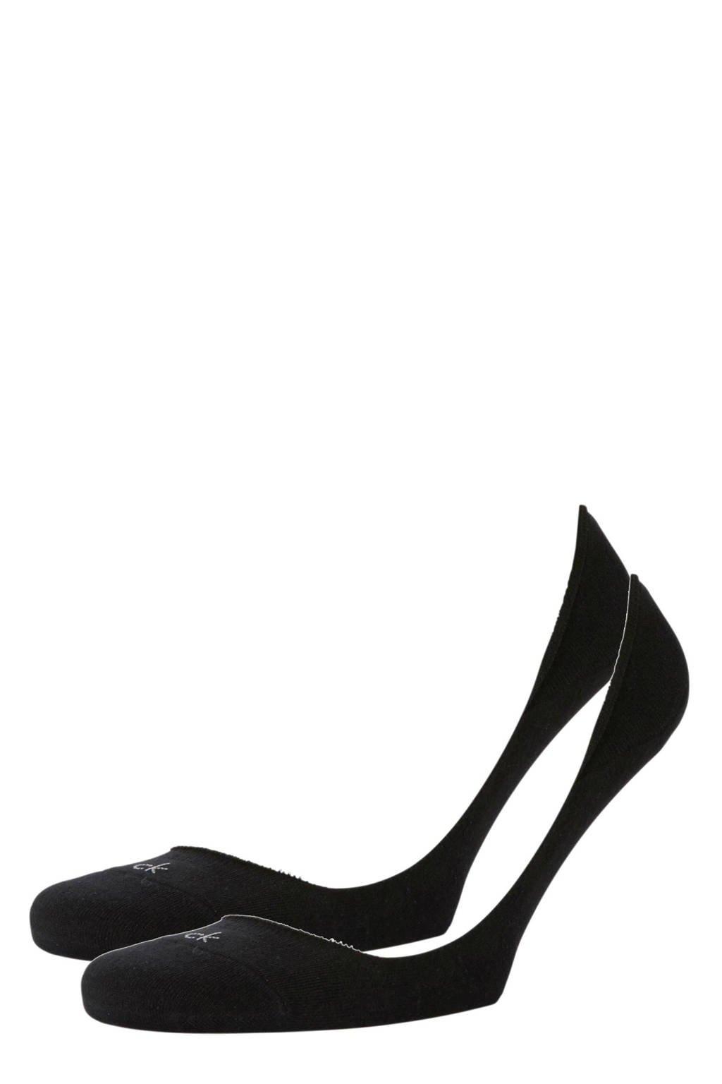 CALVIN KLEIN kousenvoetjes - 2 paar, Zwart