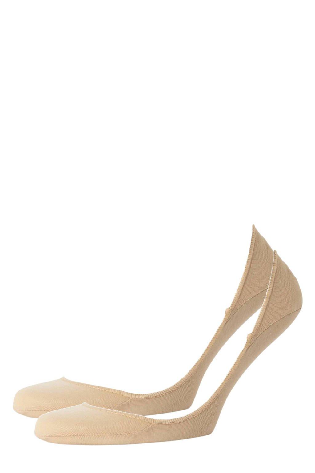 CALVIN KLEIN kousenvoetjes - 2 paar, Beige