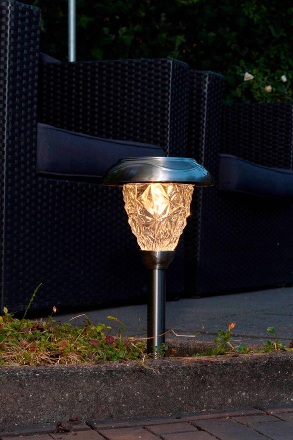 Luxform sokkellamp Saint-Etienne (solar), Grijs