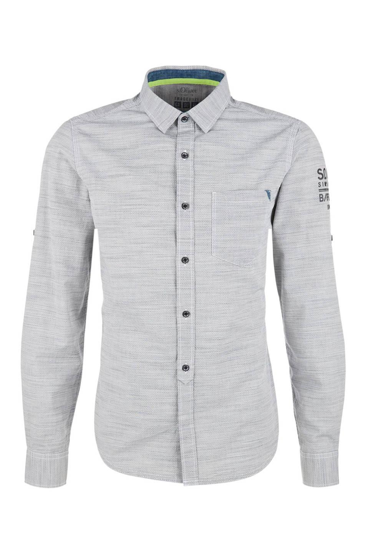 Grijs Overhemd Heren.S Oliver Red Label Slim Fit Overhemd Wehkamp