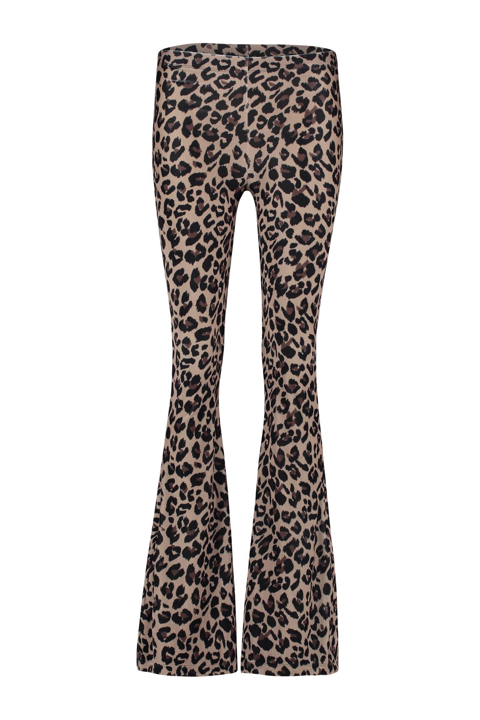 Verrassend Catwalk Junkie Woodstock fluwelen flared broek met panterprint LX-58