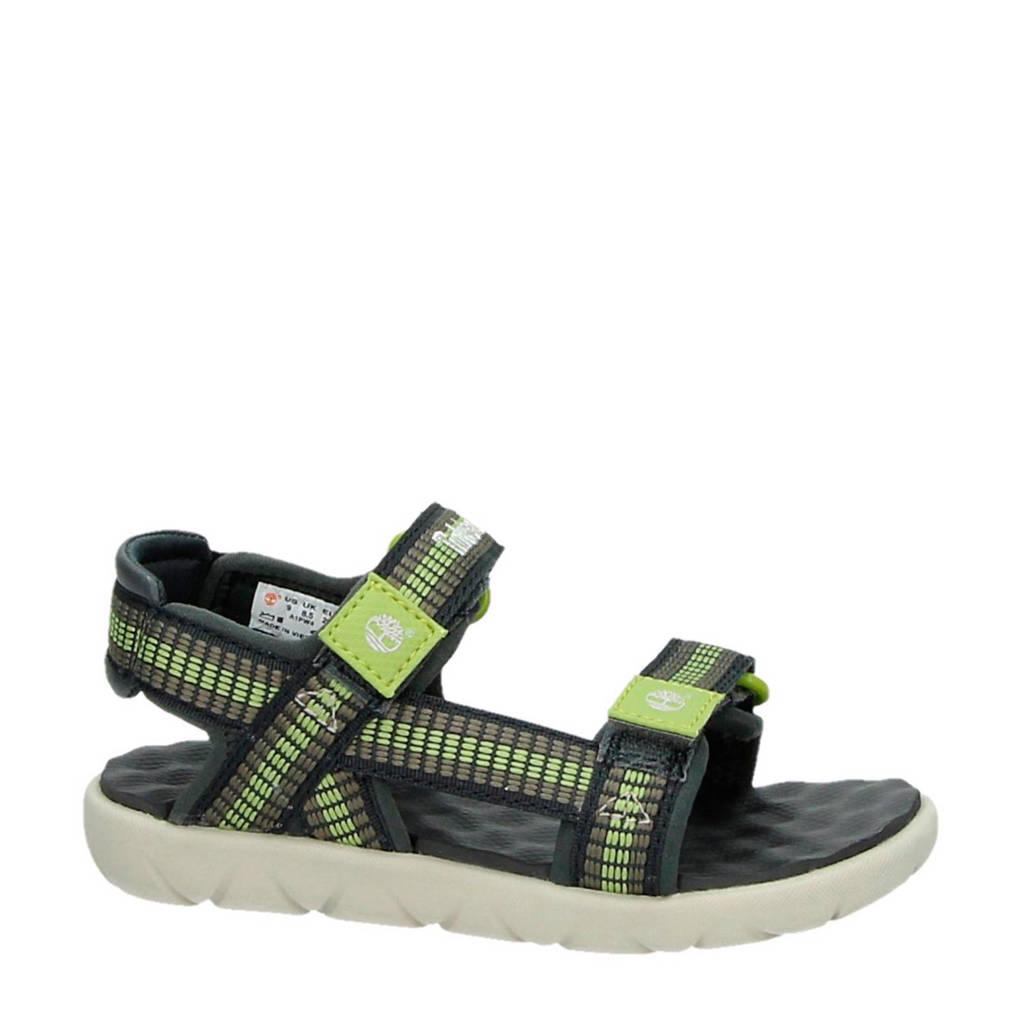 Timberland   Perkins Row Webbing sandalen, groen/bruin/antraciet