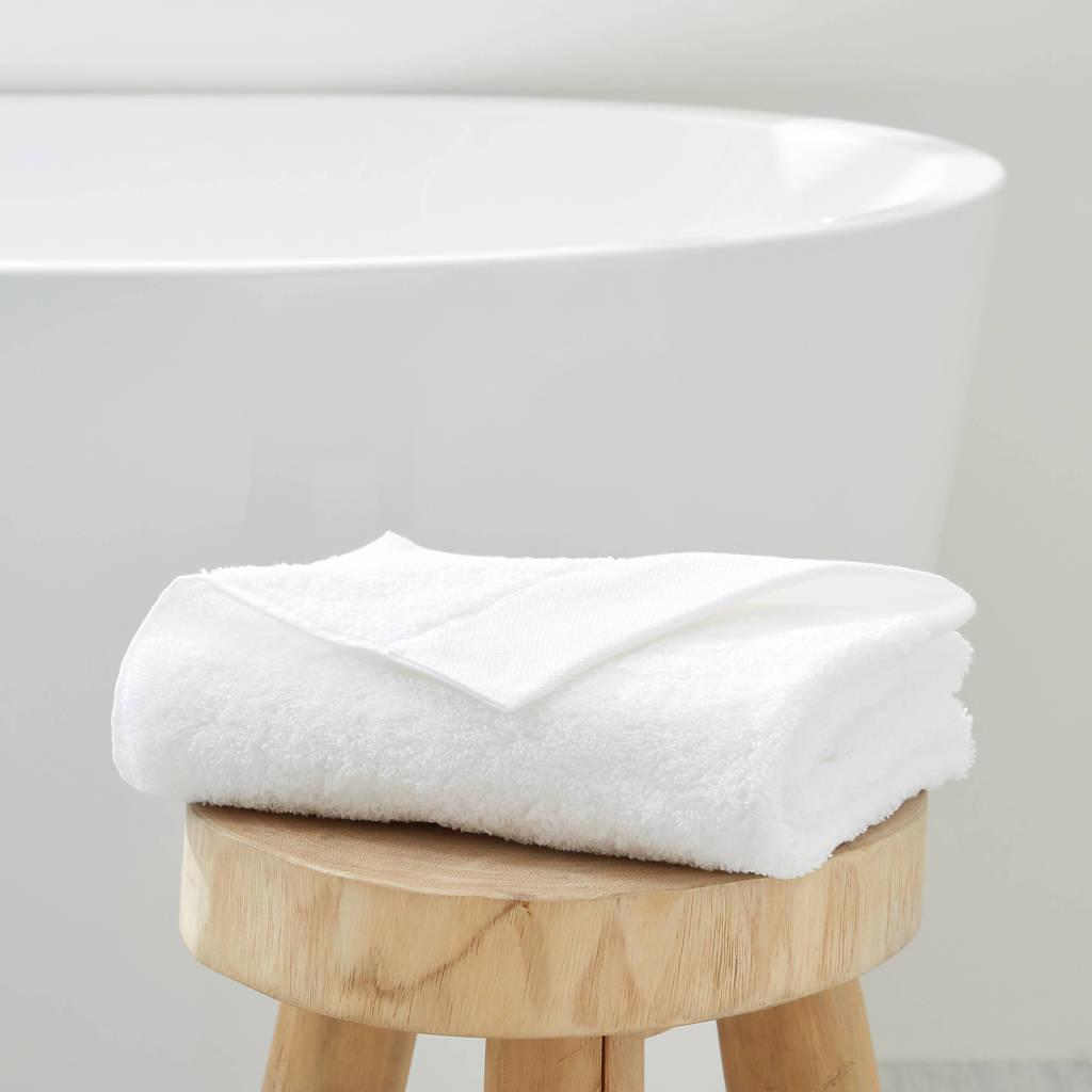 wehkamp home handdoek hotelkwaliteit (50 x 100 cm) Wit