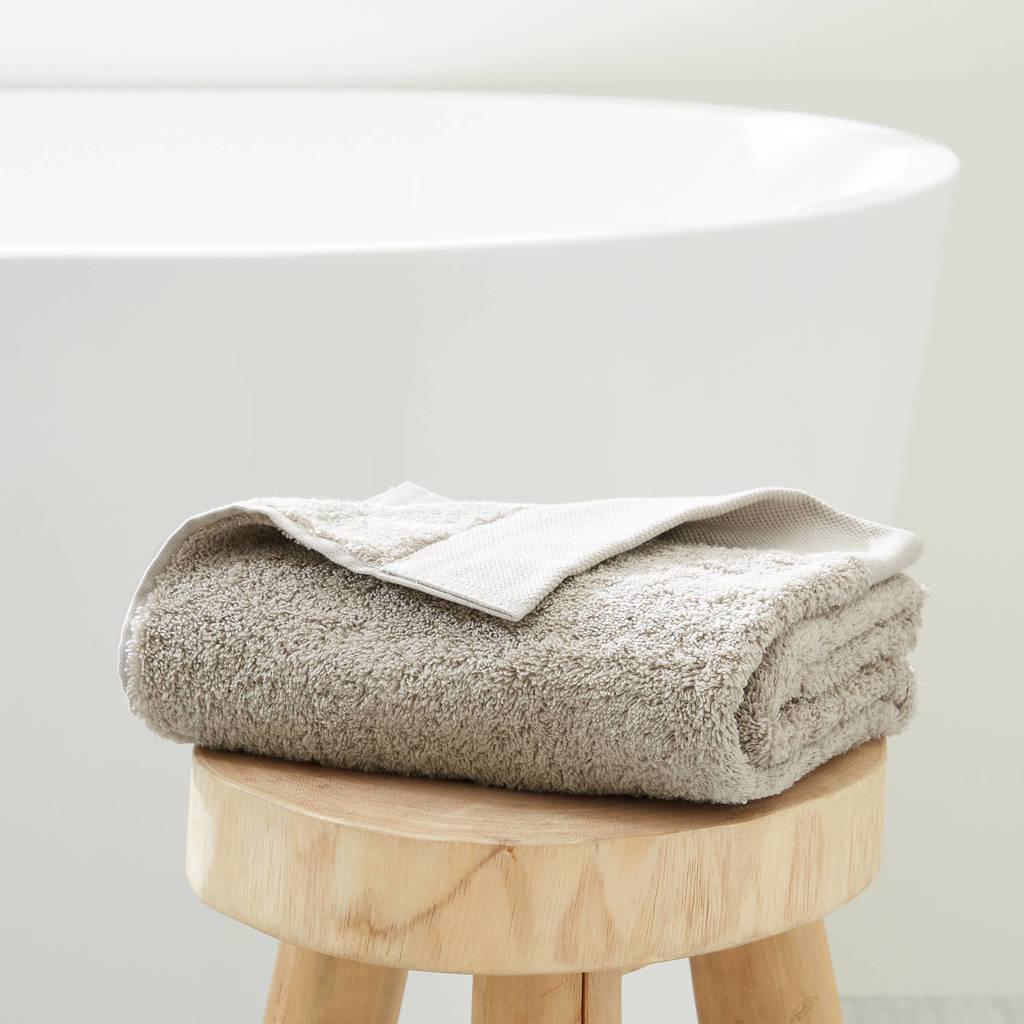 wehkamp home handdoek hotelkwaliteit (50 x 100 cm) Taupe
