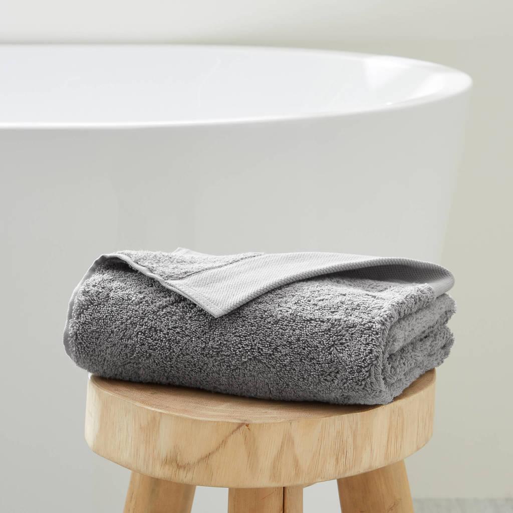 wehkamp home handdoek hotelkwaliteit (50 x 100 cm) Grijs