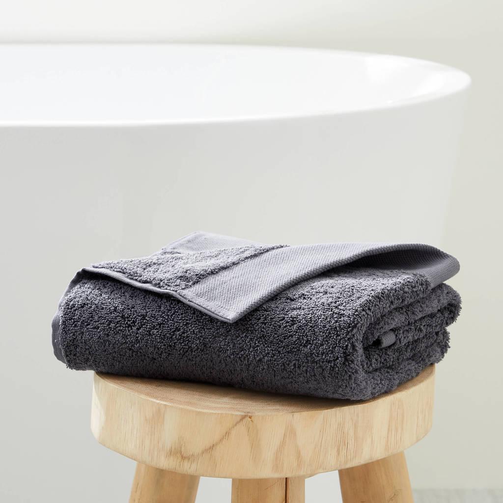 wehkamp home handdoek hotelkwaliteit (50 x 100 cm) Antraciet