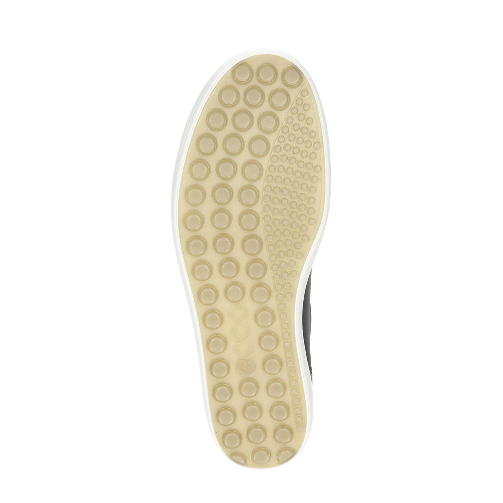 Ecco Soft 7 comfort leren veterschoenen zwart   wehkamp