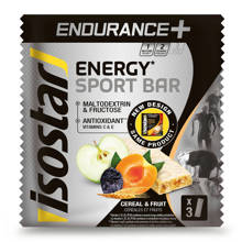 Endurance+ reep cereals & fruit  - 1 pakje 3 repen (3x40g)