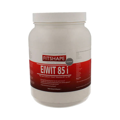 Fitshape Eiwit 85% eiwitshake - Vanille - 400 gram - voedingssupplement kopen