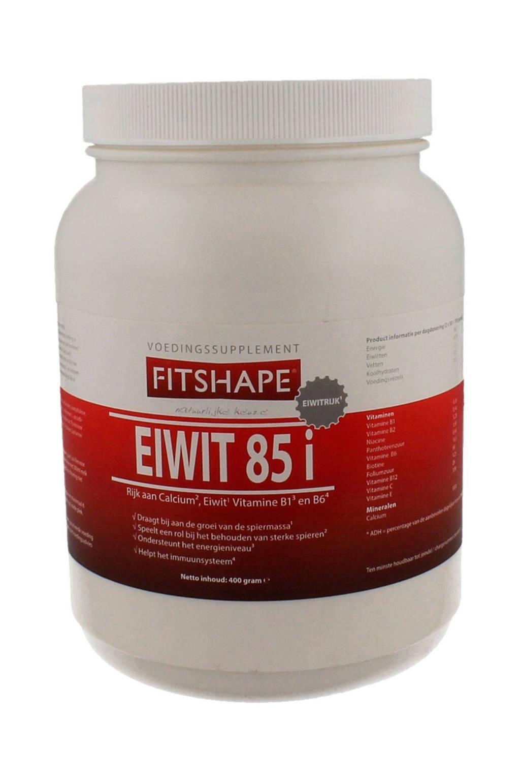 Fitshape Eiwit 85% eiwitshake - Vanille - 400 gram - voedingssupplement