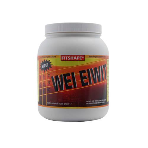 Fitshape Wei Eiwit eiwitshake - Aardbei - 1000 gram - sportvoeding kopen