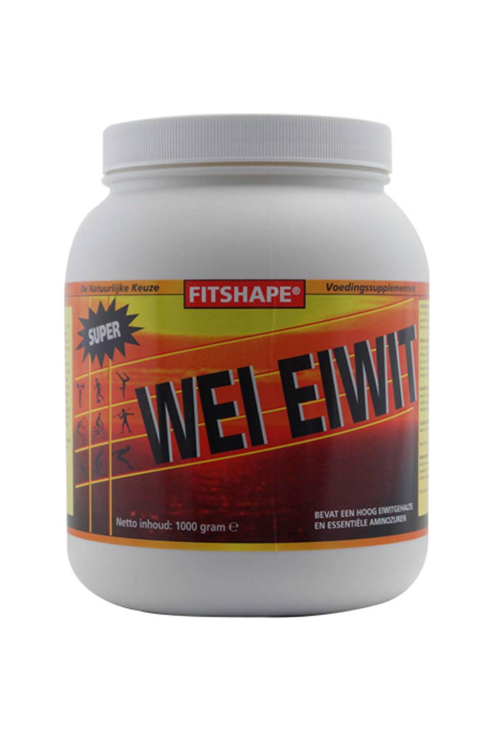 Fitshape Wei Eiwit eiwitshake -  Aardbei -  1000 gram - sportvoeding