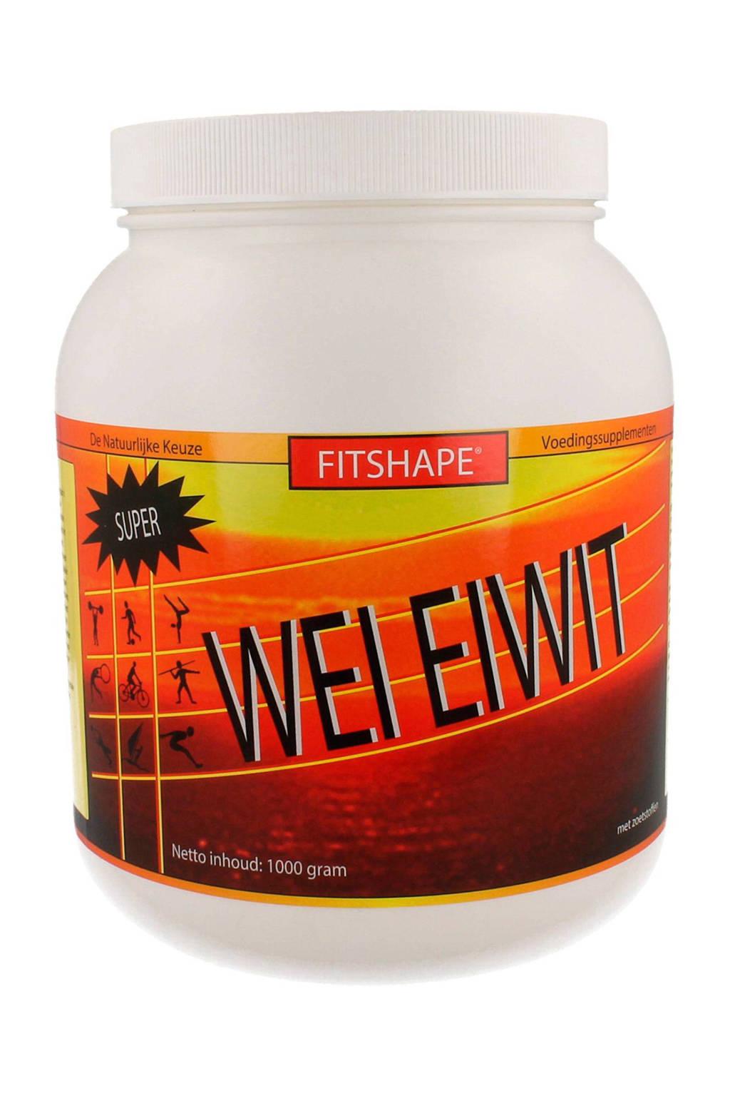 Fitshape Wei Eiwit eiwitshake - Vanille - 1000 gram - sportvoeding