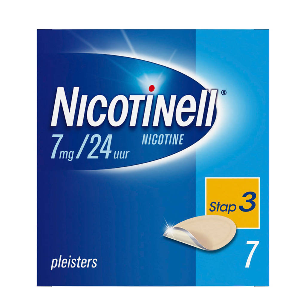 Nicotinell pleisters - Tts 10 7mg/24uur - 7 stuks