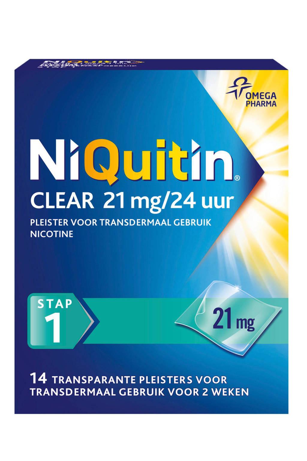 Niquitin Clear pleisters 21mg/24uur - Stap 1 - 14 stuks