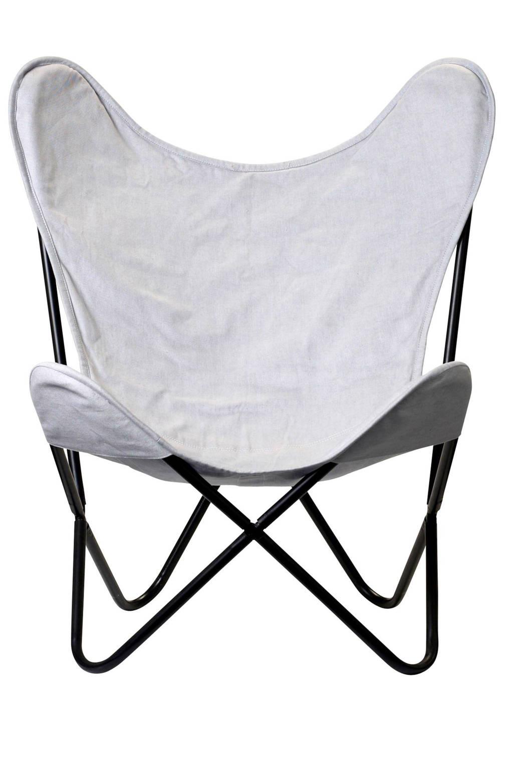 Bloomingville fauteuil Butterfly, Grijs