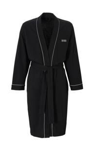 BOSS jersey badjas zwart, Zwart
