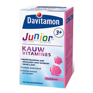 Junior 3+ Framboos - 120 kauwtabletten