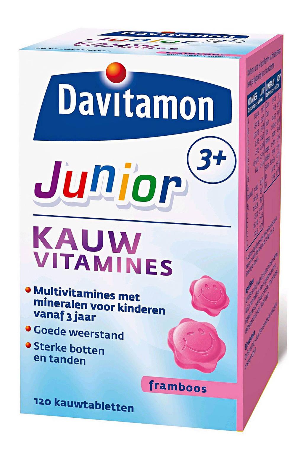 Davitamon Junior 3+ Framboos - 120 kauwtabletten
