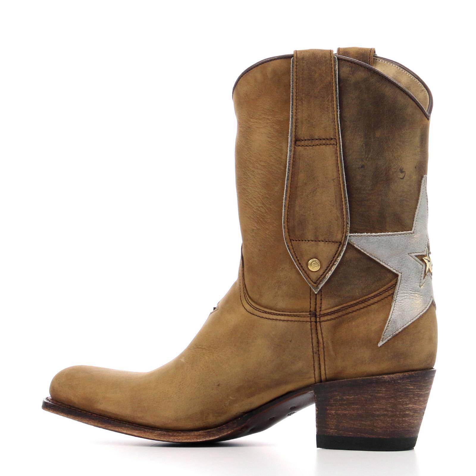 halfhoge leren cowboy laarzen