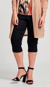 Zizzi slim fit capri jeans Emily zwart, Zwart