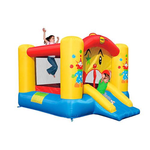 Clown Slide And Hoop Bouncer Springkasteel