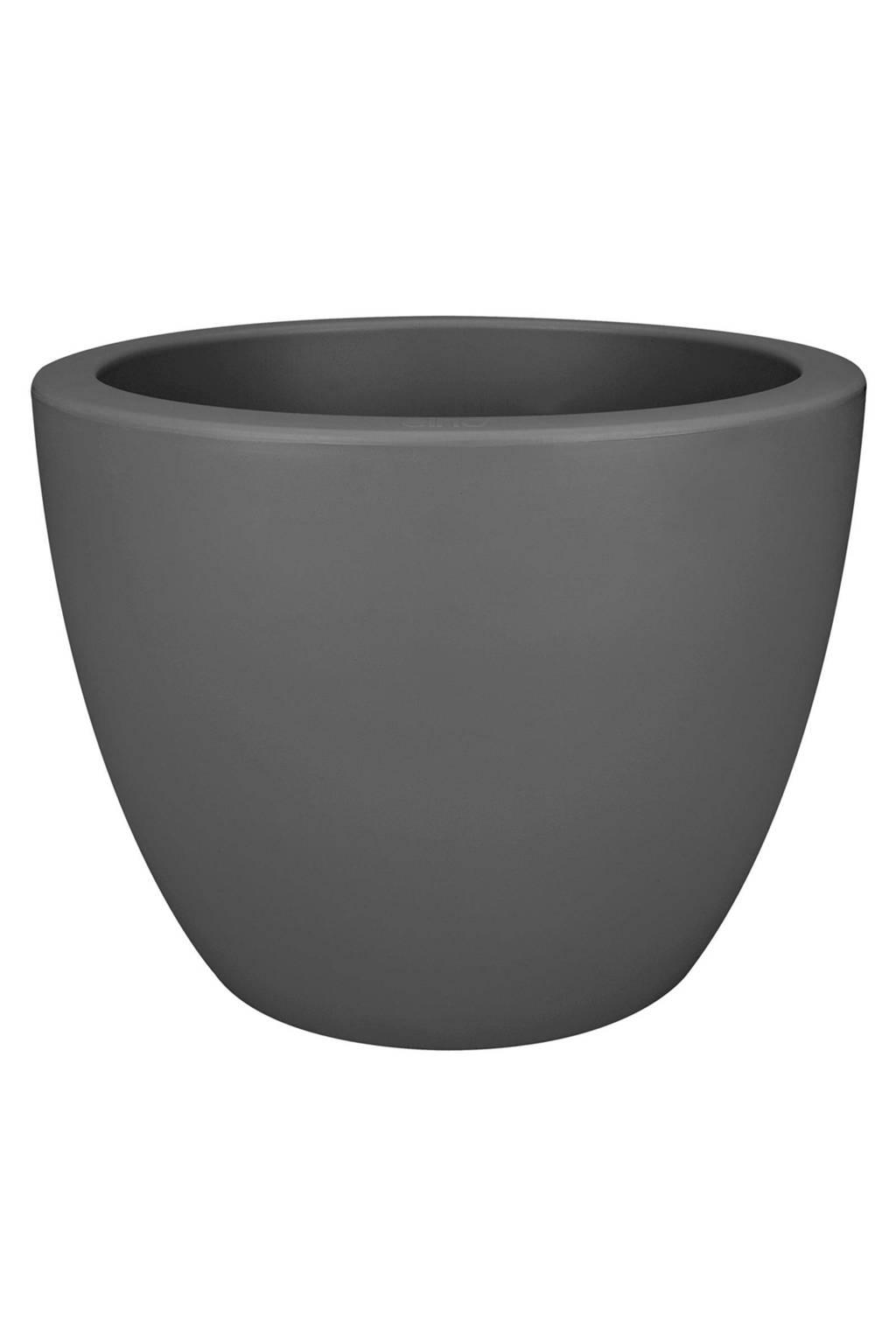 Elho bloempot Pure soft round (40ø cm), Antraciet
